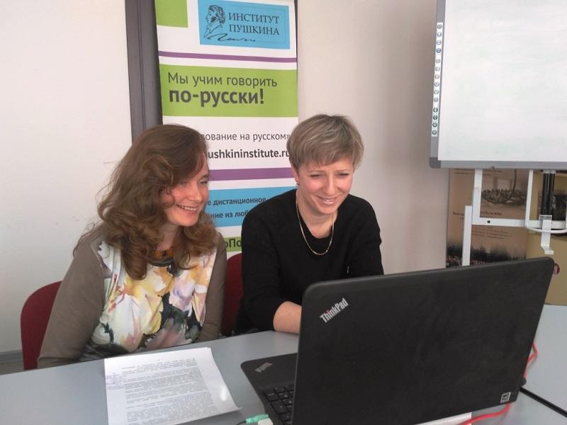 Арина Шарапова приняла участие в вебинаре Института Пушкина для ярославских школьников